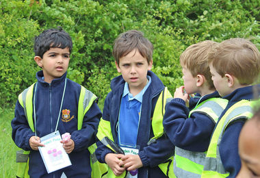 Year 1 Boys chatting Hyde Hall 2017