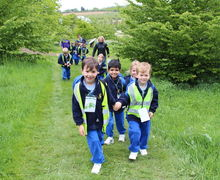 Year 1 Pupils Walking at Hyde Hall