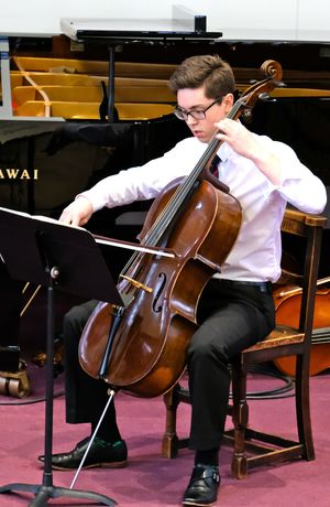 Cellist at Senior & Prep Chamber Music Concert
