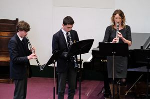 Senior School Clarinet Players in Chamber Concert