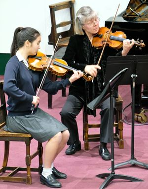 Violinists in Chamber Music Concert May 2017