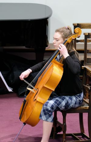 Sixth Form Cellist in Chamber Music Concert May 2017