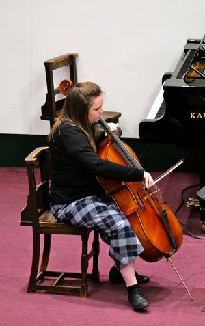 Rosie Playing Cello in Chamber Music Concert 2017