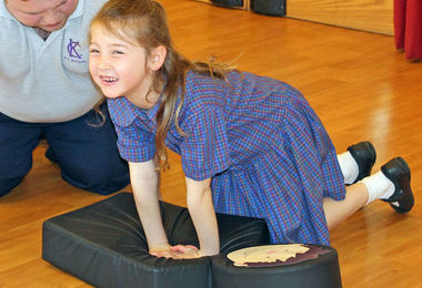 Year 2 girl first aid course
