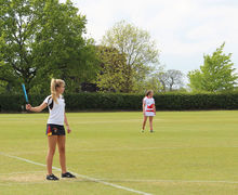 Senior School Girls Playing v England Rounders