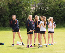 Senior School Rounders Players v England Rounders