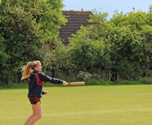 Senior School Player batting v England Rounders