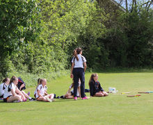 Senior School Girls Resting England Rounders