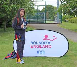 Yuki with award England Rounders