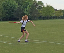 U14 Player batting v England Rounders