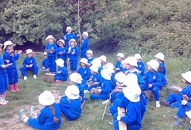 Reception Makes Music in Forest School