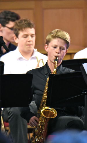 Senior School Musician in Band Night FLT 2017