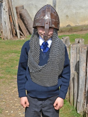Upper Shell Boy in Armour at Mountfitchet Castle
