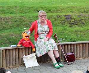 Shell meet Author Jools A H and her Muppet