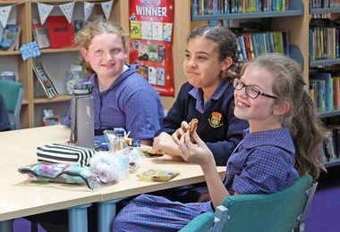 Form 1 & 2 Girls at Lunchtime bookclub