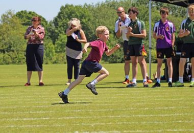 Pre-Prep School Sports Day Boy Running