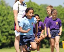 Pre-Prep Girl in Running Race Sports Day 2017