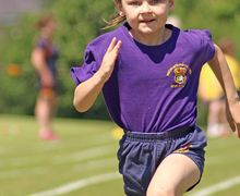 Girl Running at Pre-Prep Sports Day 2017