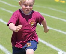Running for Sports Day in Pre-Prep 2017