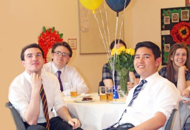 Upper Sixth Formers at Pre-Prep Days Celebration