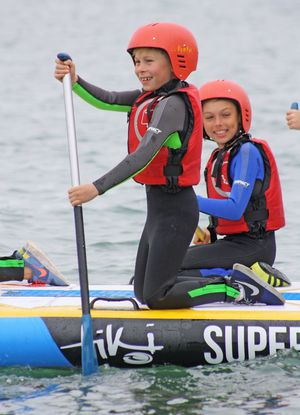 Form 2 Prep School Boy & Girl Surfing Cornwall 17