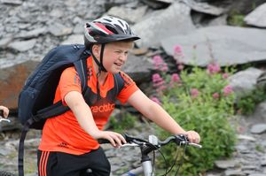F2 Boy cycling on Cornwall Science Trip