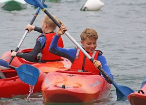 Form 2 Pupils kayaking Cornwall 2017