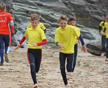 Form 2 Boys on Beach Prep School Cornwall 2017
