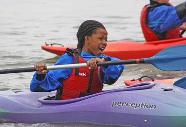 Form 2 Girl Kayaking Cornwall Prep School Trip 17