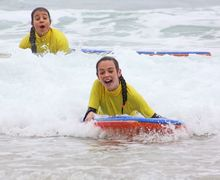 Form 2 Prep School Girls surfing Cornwall 2017