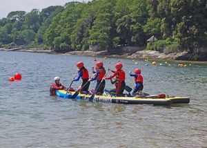 Form 2 Prep School Pupils on Raft Cornwall 2017