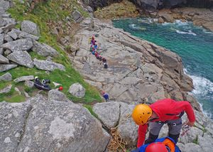 Prep School Form 2 Rockclimbing in Cornwall 2017