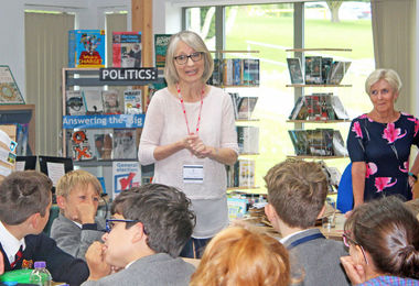 Helen Moss Author with Form 1 Pupils