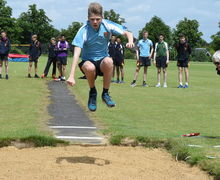 Long Jumping Collett House Junior Sports Day 2017