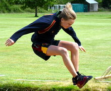 Long Jumper Junior Sports Day 2017