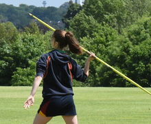 Girl Javelin Thrower Junior Sports Day 2017