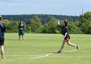Javelin Throwing Junior Sports Day 2017