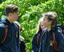 Junior Sports Day 2017 Pupils Chatting