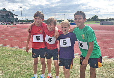 U10 boys relay 4th finalists Bedford June 2017