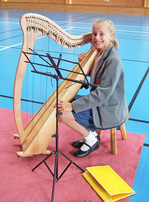 Bente with Harp Prep School Music Tour to Normandy
