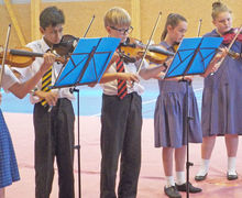 Violinists Prep School Music Tour to Normandy