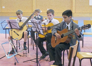Guitarists on Prep School Music Tour to Normandy