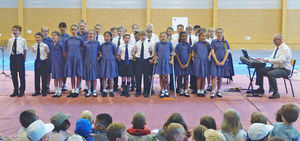 Choir Performing Prep School Music Tour to Normandy