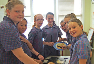 Making Crepes Prep School Music Tour to Normandy