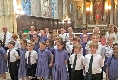 Pupils & Staff in Church Prep School Music Tour to Normandy