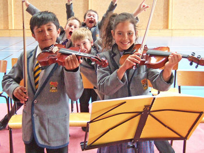 Boy & Girl Violinists Prep School Music Tour to Normandy