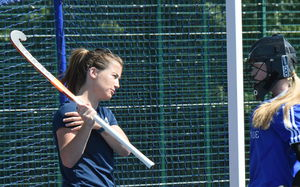Maddie Hinch Coaches Senior School GK