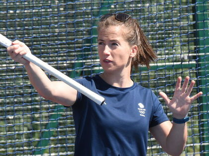 Maddie Hinch Coaching Senior School Girl