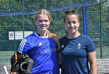 Maddie Hinch with Senior School GK