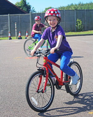 Year 2 girl cyclist bikeability 2017